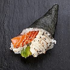 Temaki salmón y palta