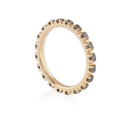Ring with 'Salt and Pepper' diamonds