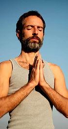 Yoga Man contemplating philosophy