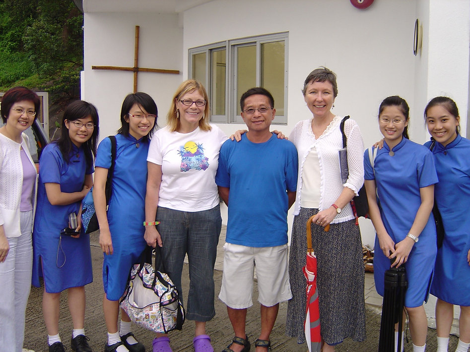 Visting Ms Jackie Pullinger, SSGC's former music teacher, with the Christian Fellowship at Shing Mun Springs, St. Stephen's Society, 2007