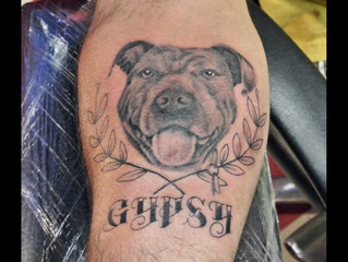 Black and Grey pup memorial