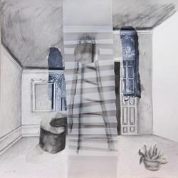 Collage con escalera