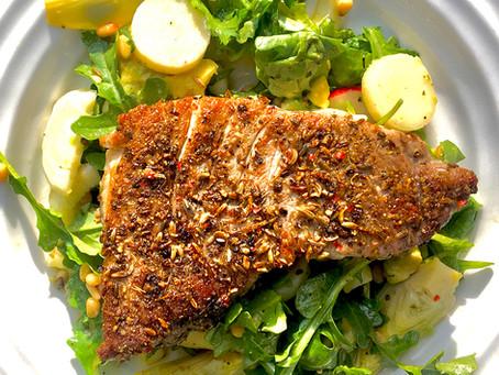 Lavender and Herb Crusted Ahi Tuna