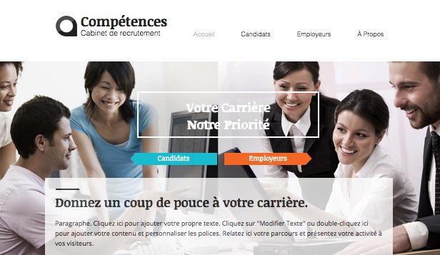 Consulting et Coaching website templates – Chasseur de Têtes