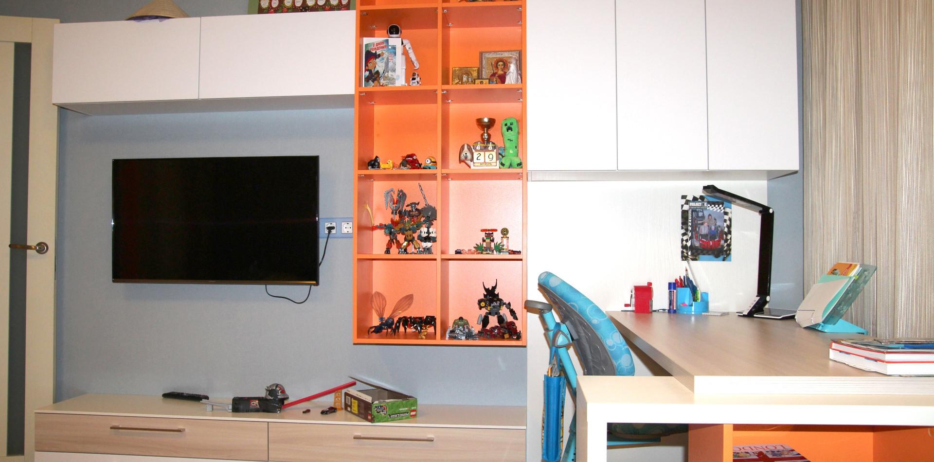 Зона ТВ в детскую комнату