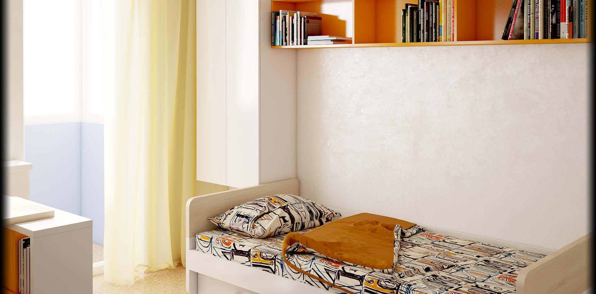 Детская комната, кровать