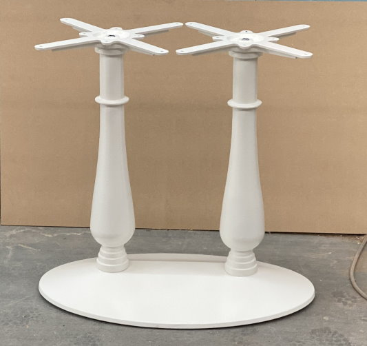 White Twin Table Base