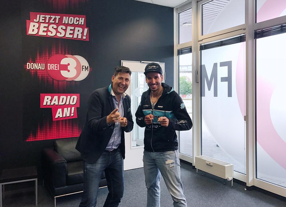 Marco Worms Donau3FM und Mathias Schmid BodyNumber1