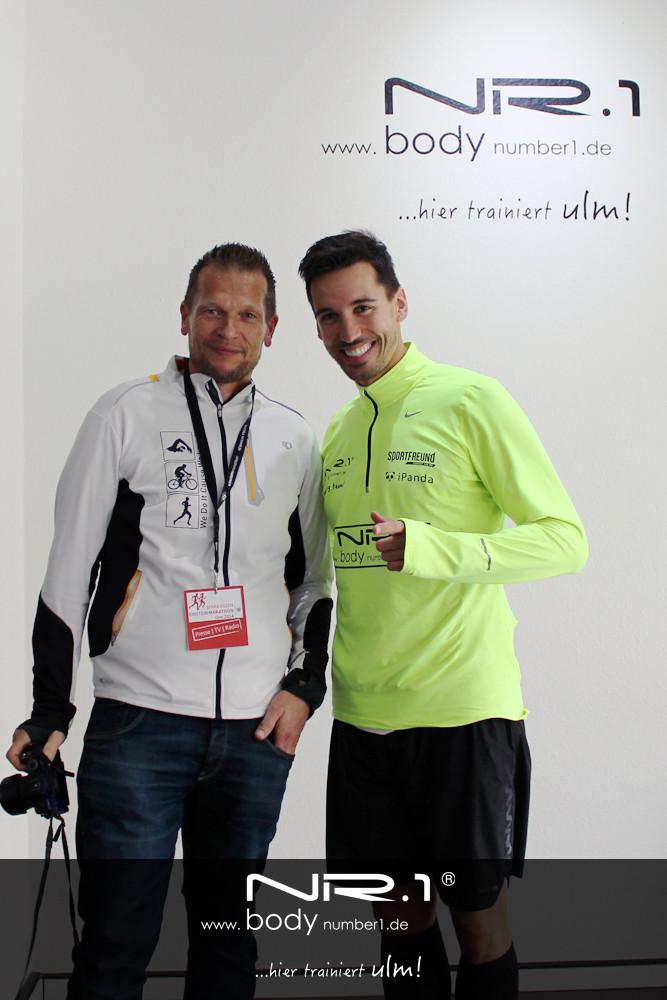 Pressefotograf Thomas Rothärmel mit Mathias Schmid