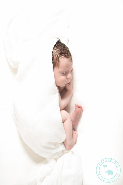 Timeless white newborn boy