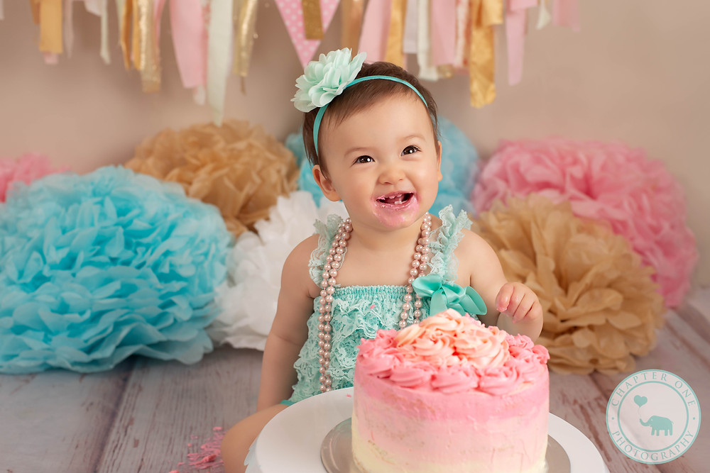 Cake Smash Photography One Year Old