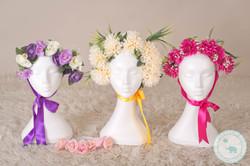Newborn Photography floral bonnets