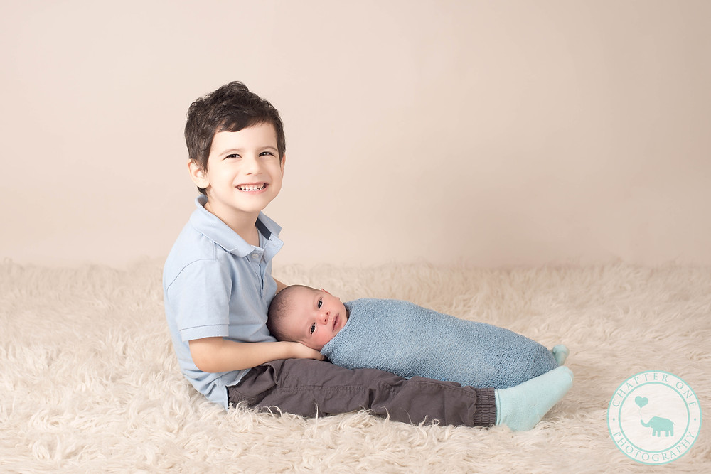 Sibling brothers at a newborn session