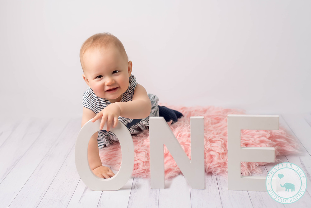 One year old milestone session