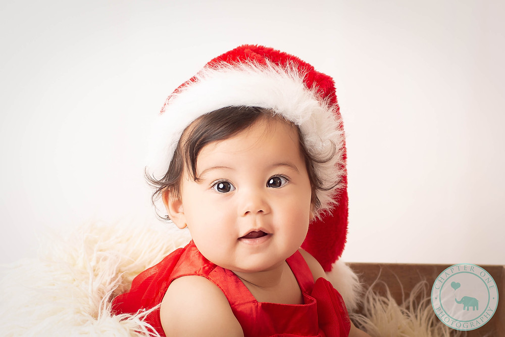 Xmas Baby Photography santa hat