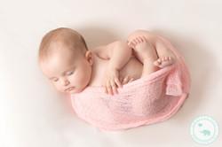 Newborn Photography girl in pink