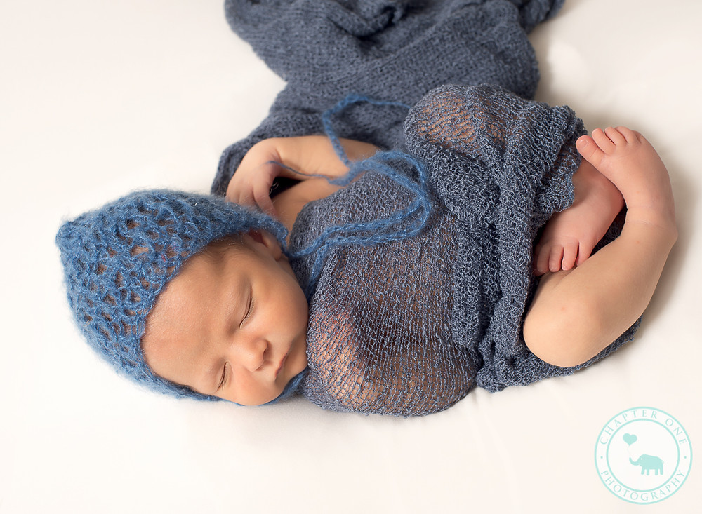 Sleeping newborn boy in Chapter One North Sydney Studio