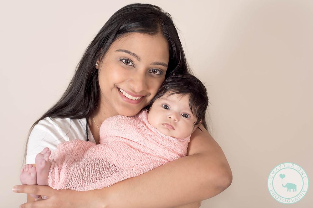 Newborn Baby Girl with mum