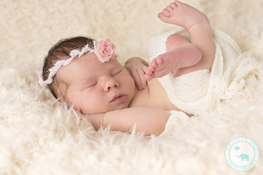 Newborn girl with headband