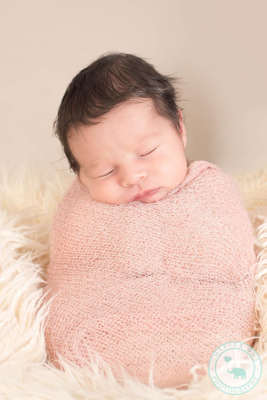 """Potato Sack"" pose, newborn photography Sydney"