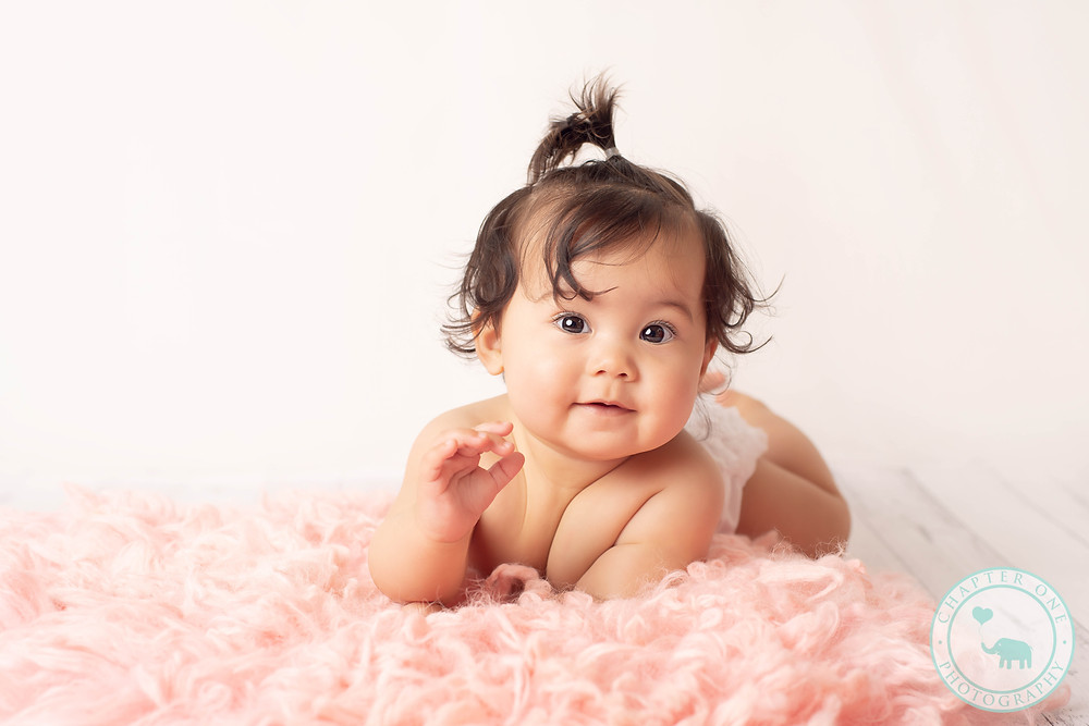Baby Photography Sydney girl on rug