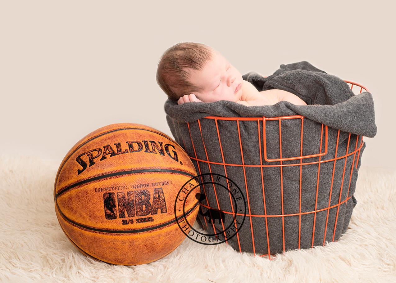 Basketball Newborn Photo