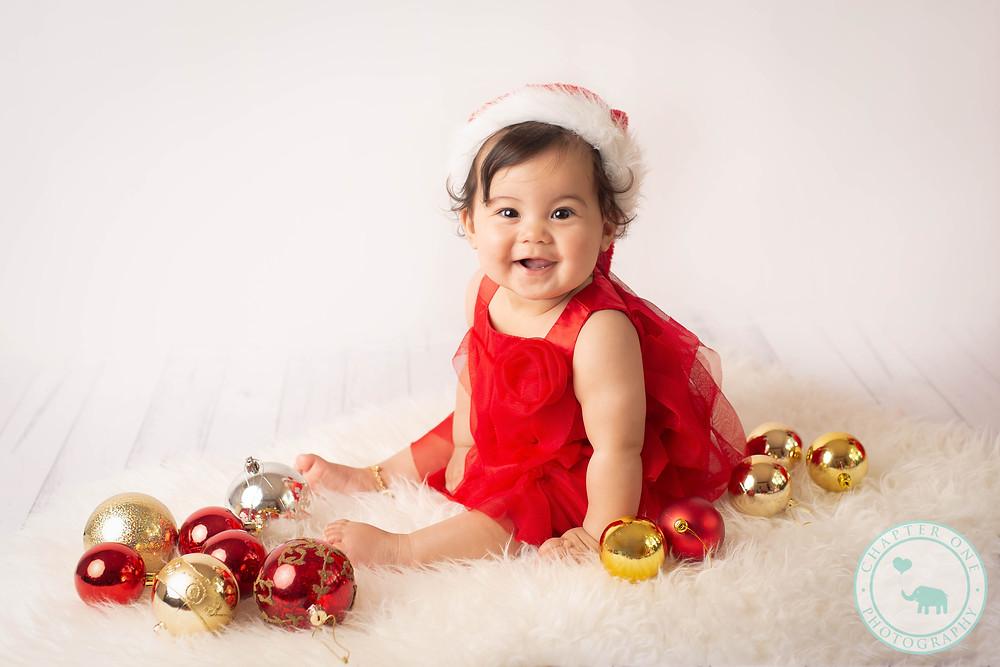 Baby Christmas photographs
