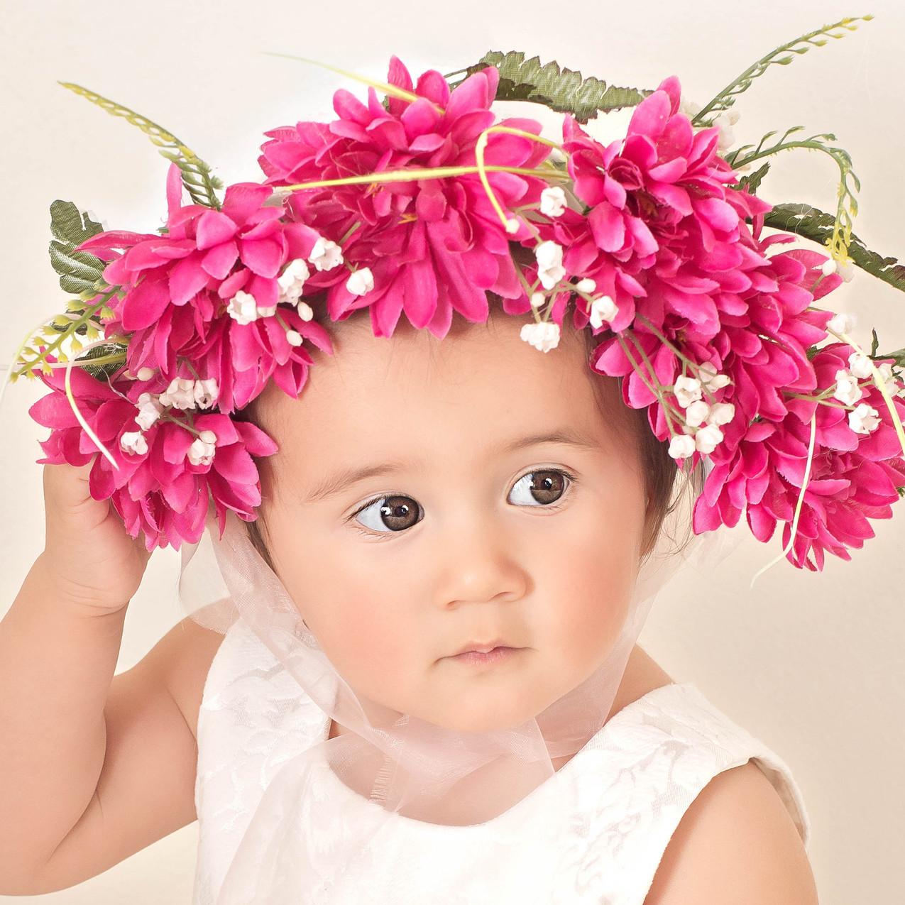 Flower Bonnet girl Photography