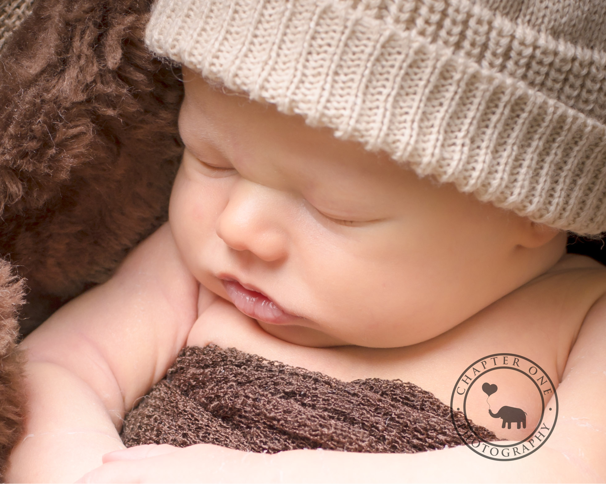 Sydney Newborn baby with brown hat