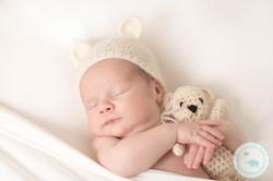 Baby Boy Newborn with teddy