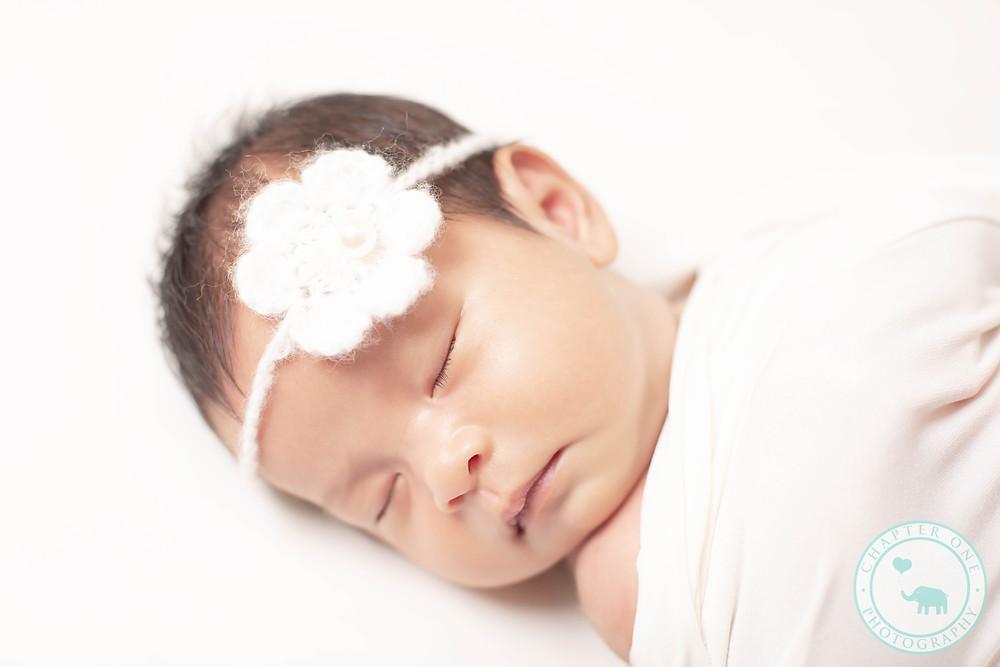 Newborn Photography North Sydney girl with headband