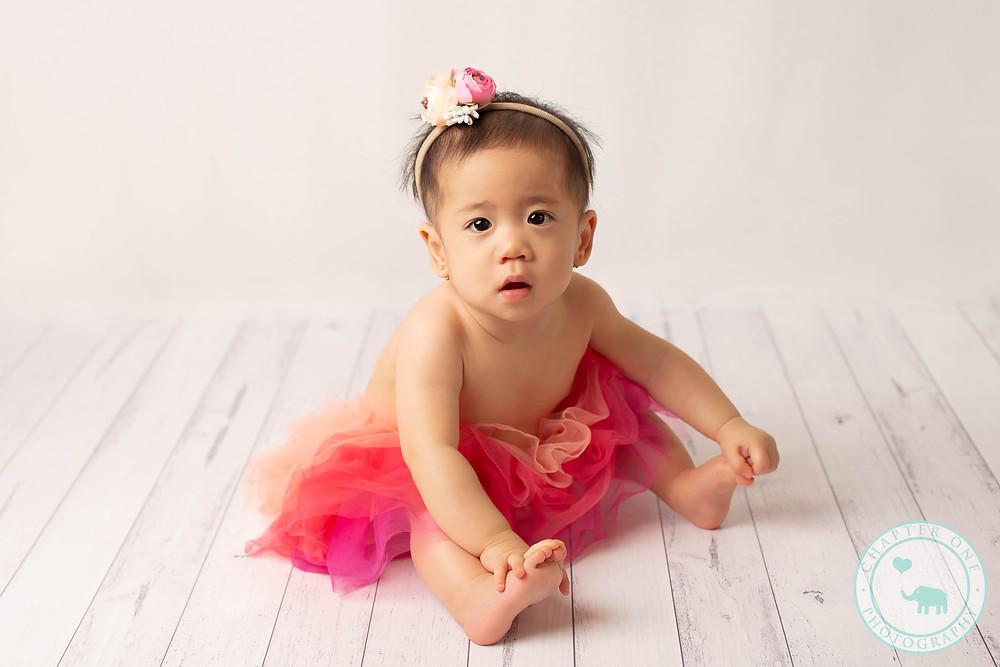 6 month girl in tutu