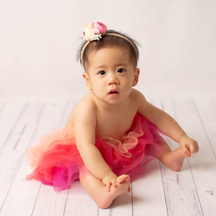 6 month girl in tutu