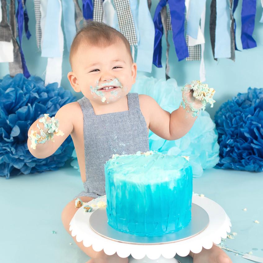 Boy Blue Cake Smash