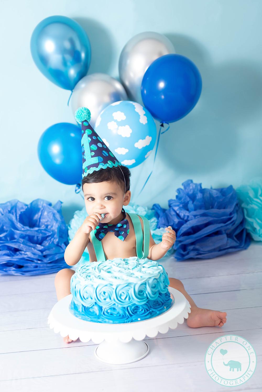 Cake Smash Photography Sydney Boy Blue session