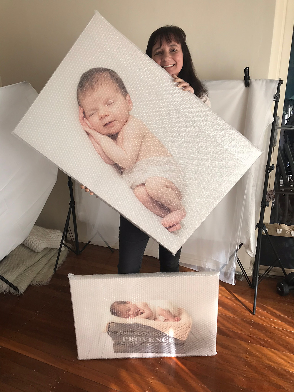 North Sydney Newborn Photography canvas photo