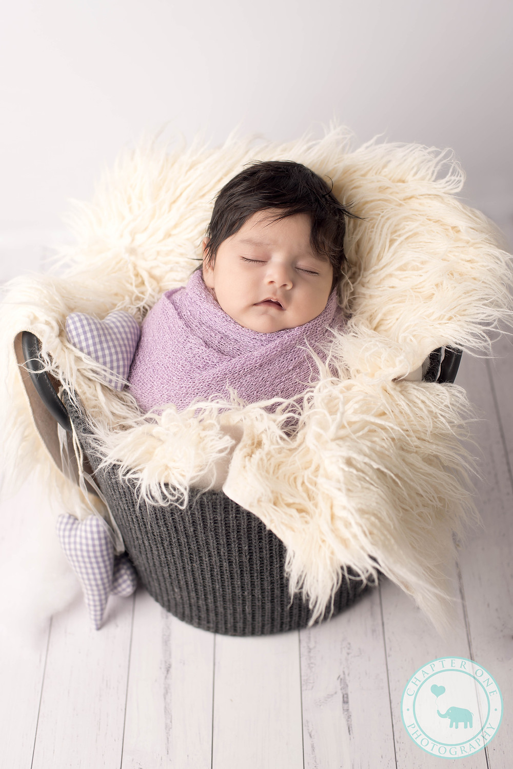 Newborn Baby Girl in purple