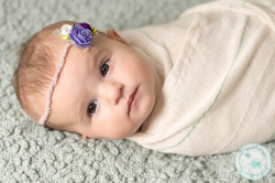 3 month old girl eyes open