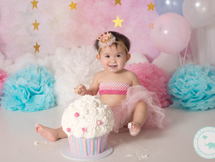 Isabelle, One Year pastel session