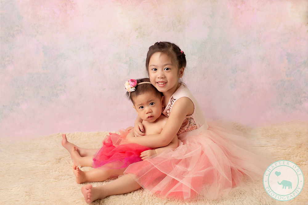Sisters in tutus - family Photography session North Sydney