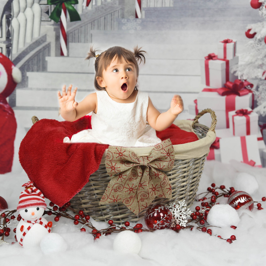 1 year Christmas photos