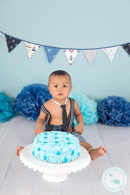 One Year Old Cake Smash Photography Sydney