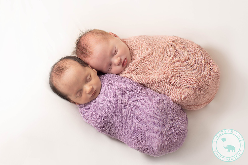Newborn Twin Girls with different skin colour