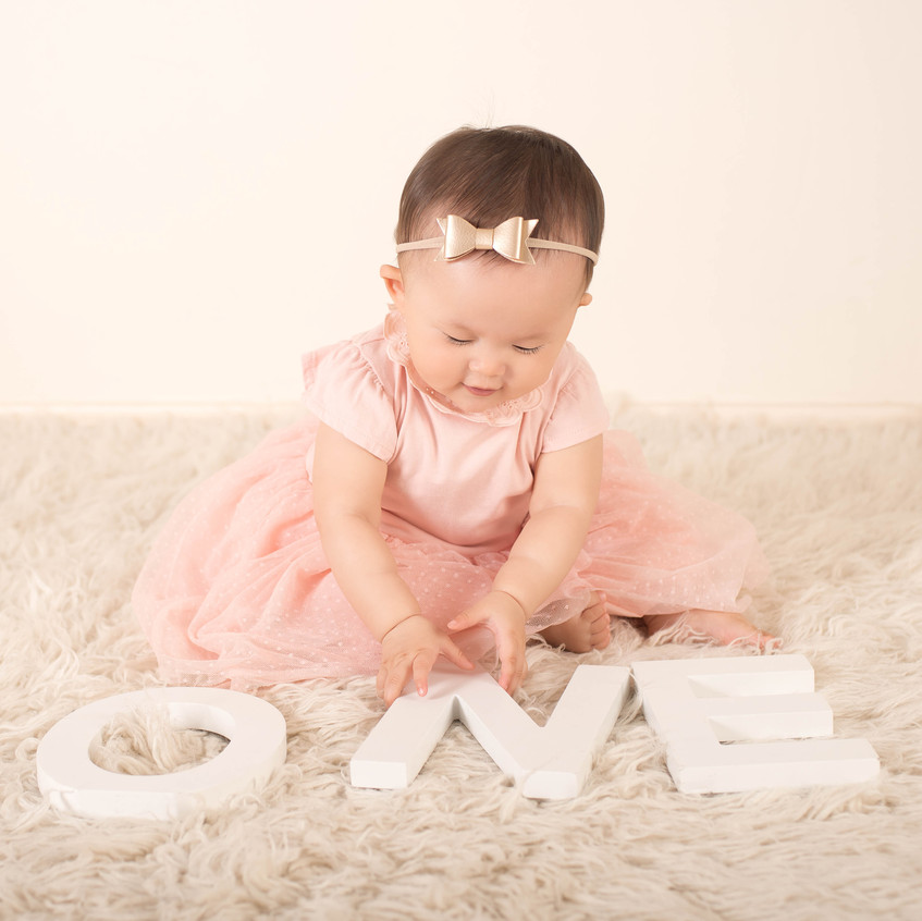 One year old baby photo session