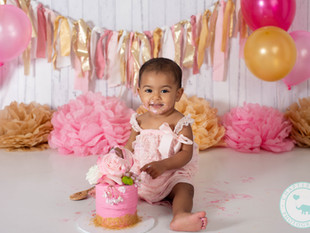Khia / One Year Old, Pink and Gold