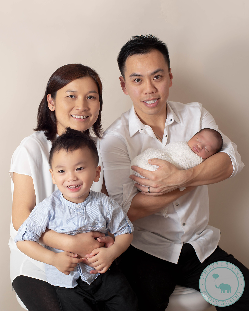 Newborn Family Photography baby and sibling 2 years