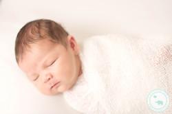 Newborn Baby Boy in white