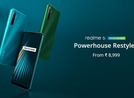 Realme 5i launched; Check out price, features, and variants.