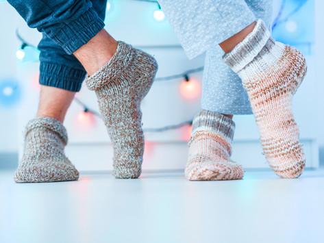 Terrassenverkauf für selbstgestrickte Socken!