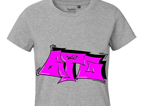 T-Shirt Ladies heather grey - Tag